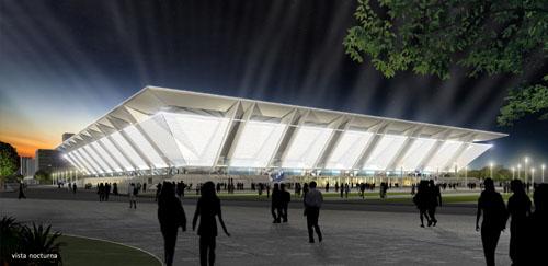 Visión nocturna del estadio