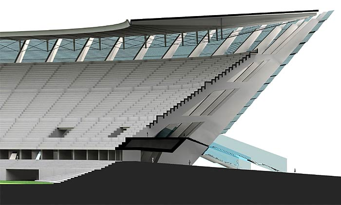 Sección diseño del estadio