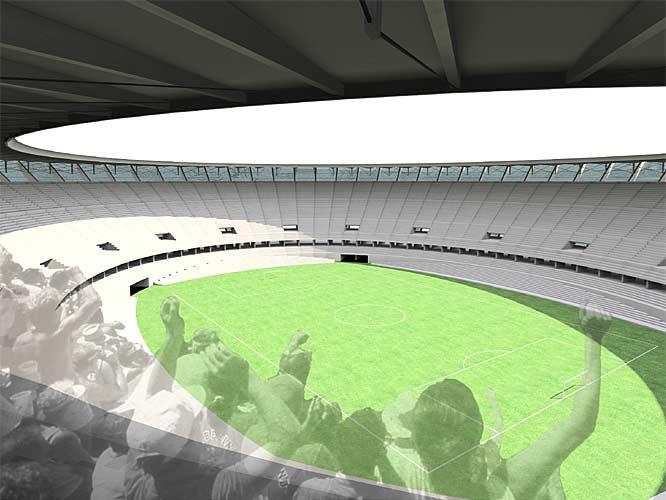 Diseño interior del estadio