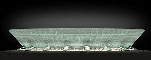 Diseño exterior del estadio