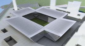 Vista superior del estadio