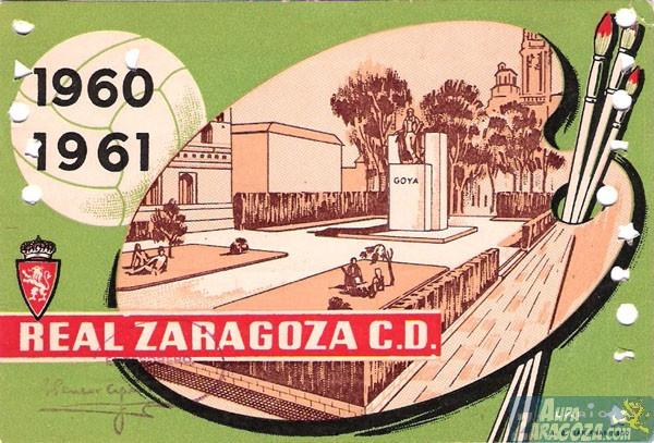 abono real zaragoza 1960-61