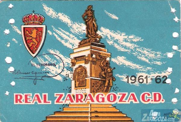 abono real zaragoza 1961-62