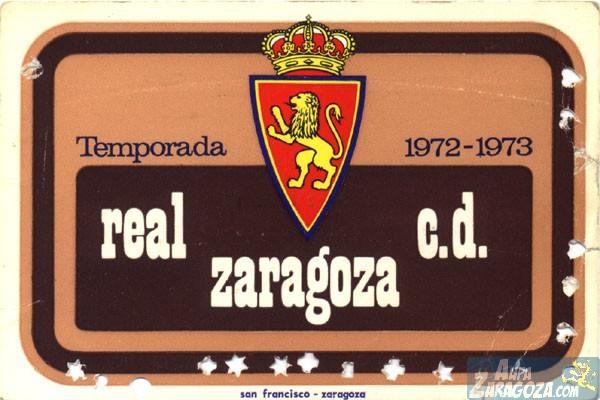 abono real zaragoza 1972-73