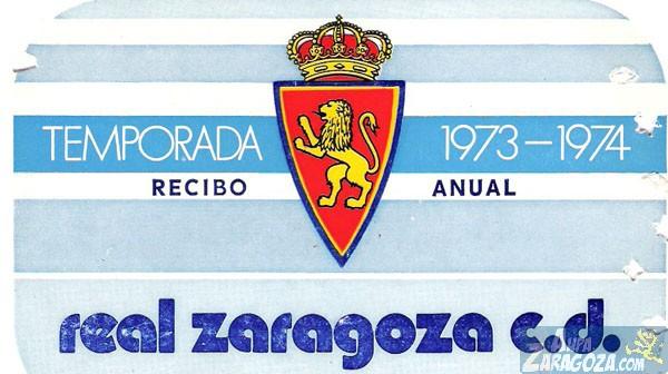 abono real zaragoza 1973-74