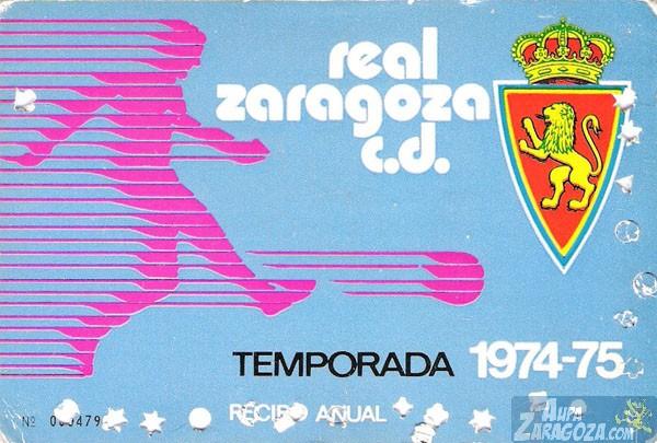 abono real zaragoza 1974-75