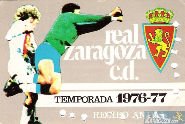 abono real zaragoza 1976-77