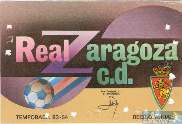 abono real zaragoza 1983-84