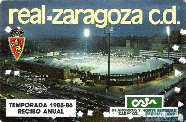 abono real zaragoza 1985-86