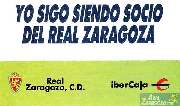 abono real zaragoza 1989-90