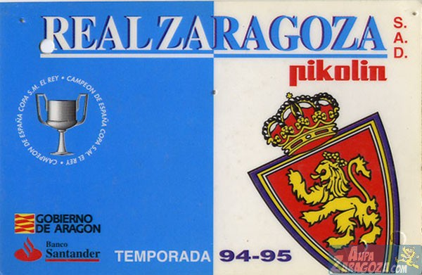 abono real zaragoza 1994-95