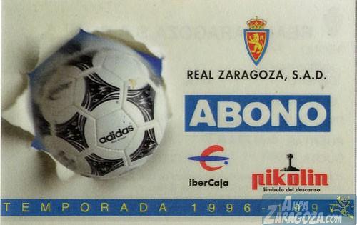 abono real zaragoza 1996-97