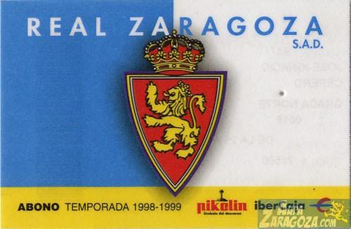 abono real zaragoza 1998-99