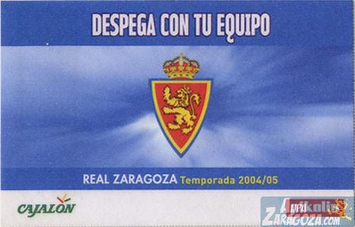 abono real zaragoza 2004-05