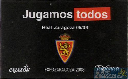 abono real zaragoza 2005-06