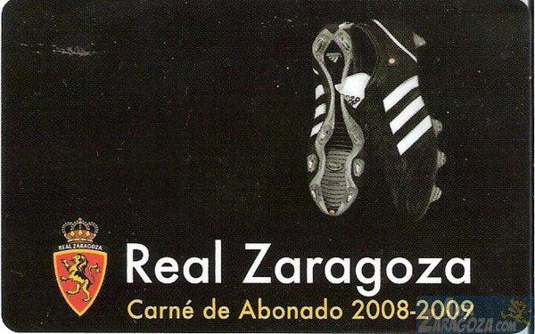 abono real zaragoza 2008-09
