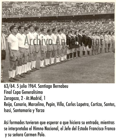 alineacion copa 1964