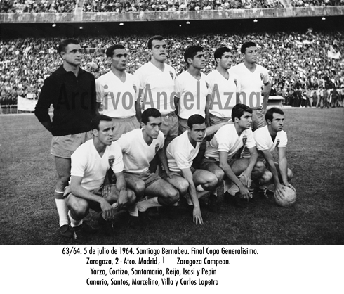 alineacion real zaragoza copa 1964