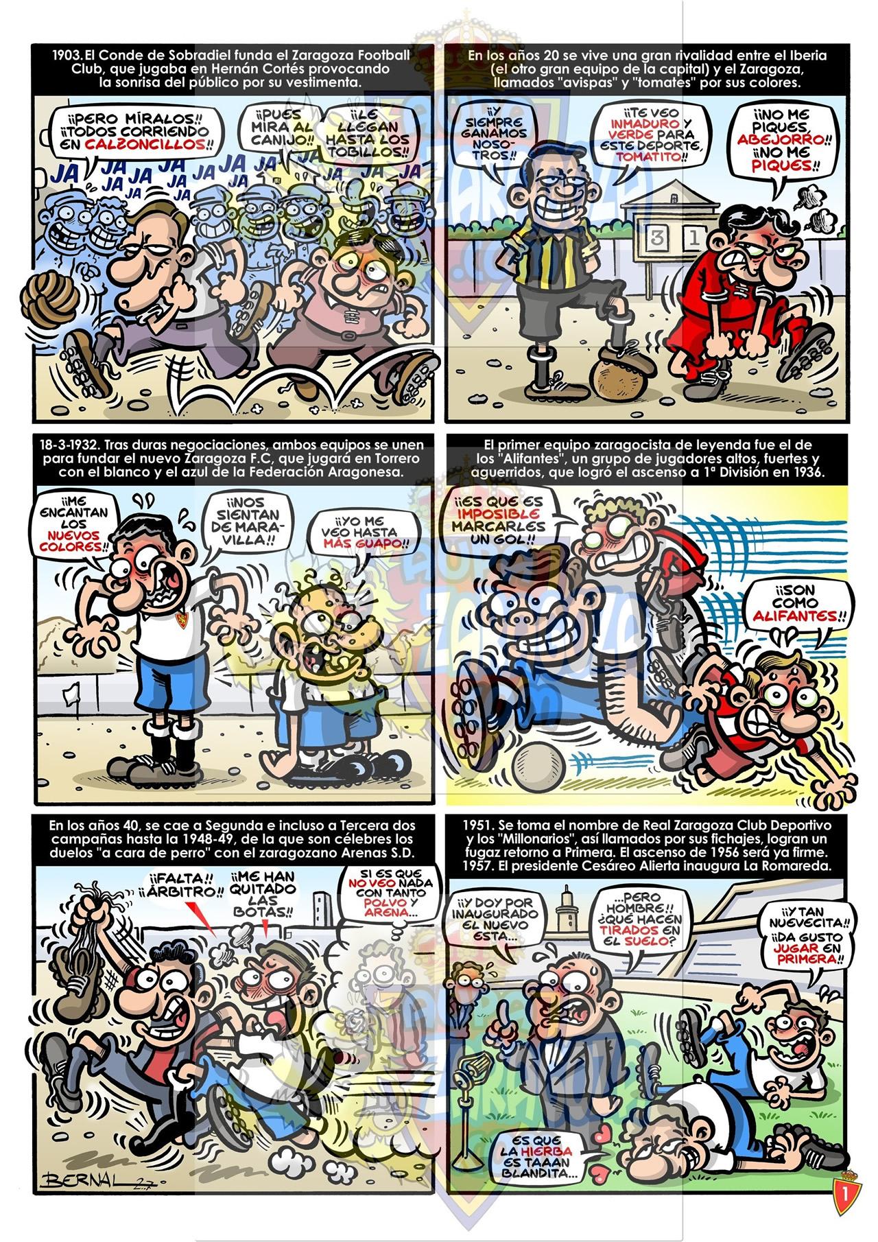 comic 75 años real zaragoza