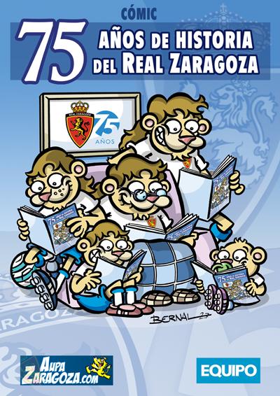 portada comic 75 años real zaragoza