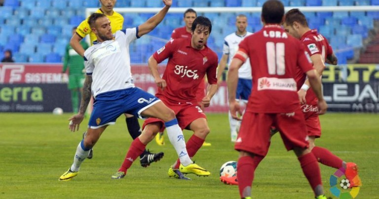 Real Zaragoza 1 – 1 Sporting Gijón   Crónica