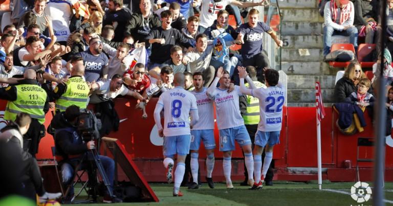 R Sporting Gijón 1 – 2 Real Zaragoza   Crónica